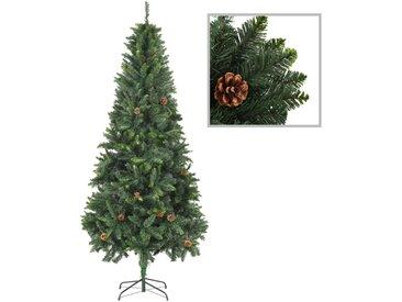 Sapin de Noël artificiel avec pommes de pin Vert 210 cm  - vidaXL