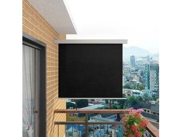 Auvent latéral de balcon multifonctionnel 150 x 200 cm Noir - vidaXL