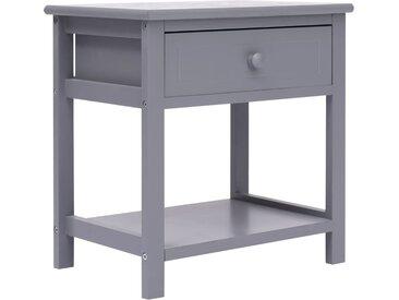 Table de chevet Gris 40x29x42 cm Bois de Paulownia - vidaXL