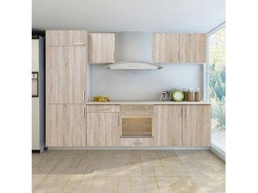 Jeu d'armoires de cuisine avec frigo encastré 7 pcs  - vidaXL