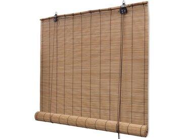 Store roulant en bambou 100 x 220 cm Marron - vidaXL