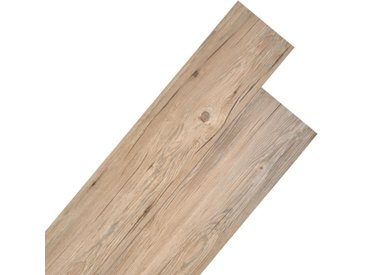 Planche de plancher PVC 5,26 m² 2 mm Marron chêne  - vidaXL