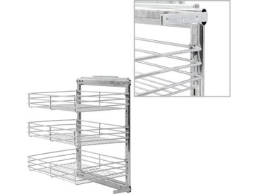 Panier à 3 niveaux métallique de cuisine 47x35x56 cm - vidaXL