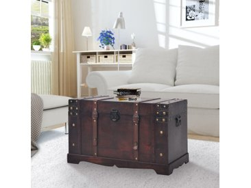 Coffre vintage de rangement Bois 66 x 38 x 40 cm - vidaXL