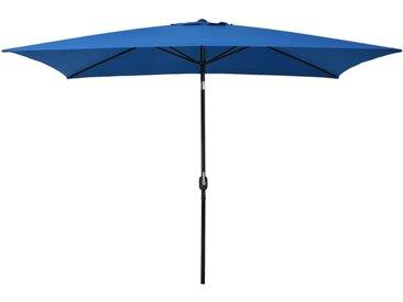 Parasol d'extérieur avec poteau en métal 300x200 cm Azuré  - vidaXL