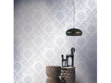 Rouleaux de papier peint Non tissé 4pcs Blanc 0,53x10m Ornement - vidaXL