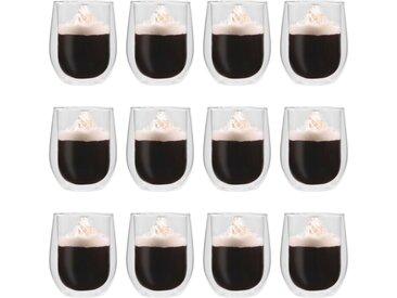 Verres à thé double paroi 12 pcs 320 ml - vidaXL