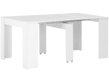 Table à dîner extensible Blanc brillant 175x90x75 cm - vidaXL