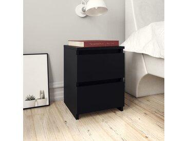 Table de chevet Noir 30 x 30 x 40 cm Aggloméré - vidaXL