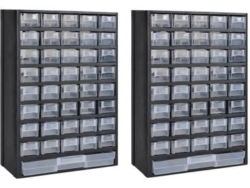 Boîte à outils de rangement avec 41 tiroirs 2 pcs Plastique - vidaXL