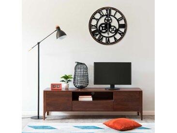 Horloge murale Noir 60 cm MDF - vidaXL