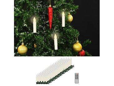 Bougies LED sans fil avec télécommande 100 pcs Blanc chaud - vidaXL