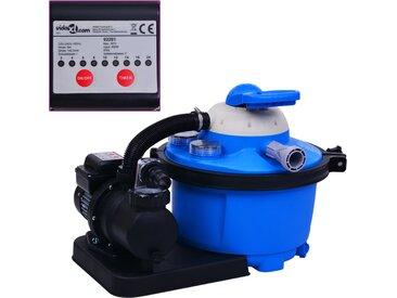 Pompe de filtration à sable avec minuterie 450 W 25 L - vidaXL