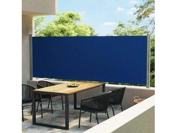 Auvent latéral rétractable de patio 600x160 cm Bleu - vidaXL