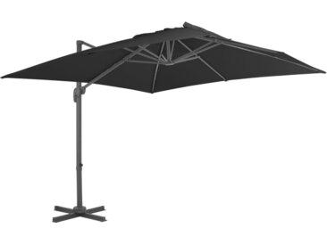 Parasol en porte-à-faux Mât en aluminium 300x300 cm Anthracite - vidaXL