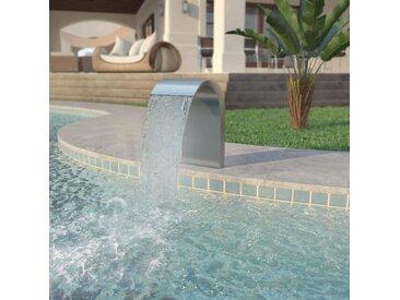 Fontaine d'étang Acier inoxydable 45 x 30 x 65 cm Argenté   - vidaXL