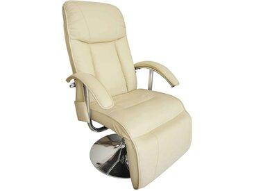 Fauteuil de massage Blanc crème Similicuir  - vidaXL