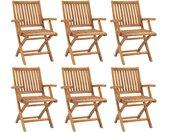 Chaises pliables de jardin 6 pcs Bois de teck solide - vidaXL