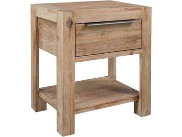 Table de chevet avec tiroir 40x30x48 cm Bois d'acacia massif - vidaXL
