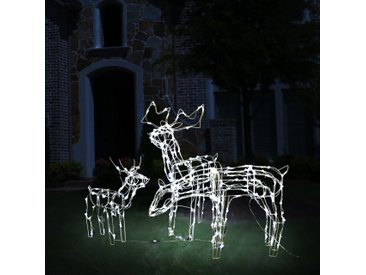 Cordon lumineux de Noël 3 pcs Rennes 229 LED - vidaXL