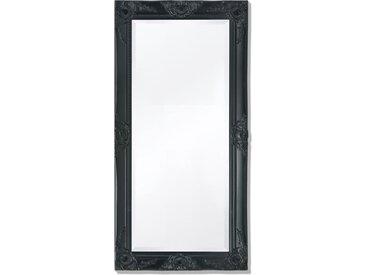 Miroir mural Style baroque 100 x 50 cm Noir - vidaXL