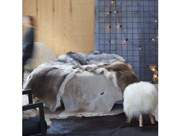 Tapis en peau de vache véritable Marron et blanc 150 x 170 cm - vidaXL