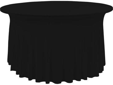 Nappes élastiques de table avec jupon 2 pcs 150x74 cm Noir - vidaXL