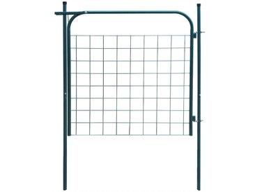 Portail de clôture de jardin 100 x 100 cm Vert - vidaXL