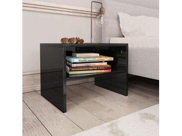 Table de chevet Noir brillant 40 x 30 x 30 cm Aggloméré - vidaXL