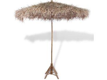 Parasol en bambou avec toit en feuille de bananier 210 cm - vidaXL