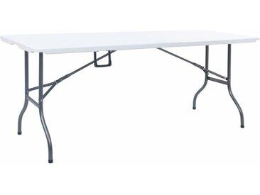 Table pliable de jardin Blanc 180x72x72 cm PEHD  - vidaXL