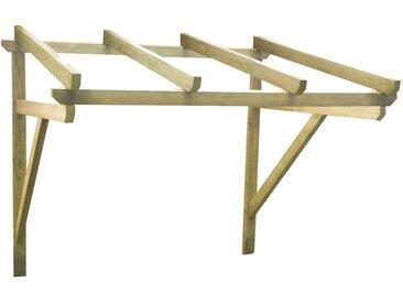 Auvent de porte 150x150x160 cm Bois de pin solide - vidaXL