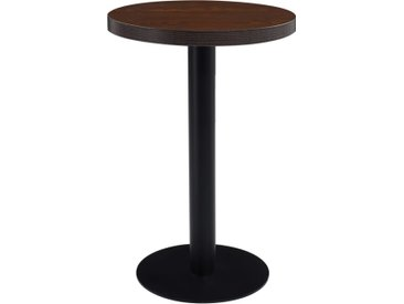 Table de bistro Marron foncé 50 cm MDF - vidaXL