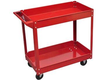 Chariot servante d'atelier charge 100 kg rouge - vidaXL