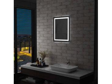 Miroir à LED pour salle de bains et capteur tactile 50x60 cm - vidaXL