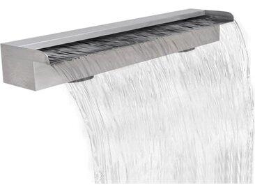 Lame d'eau rectangulaire pour piscine en acier inoxydable 90 cm - vidaXL