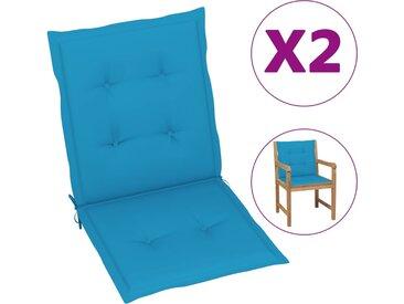 Coussins de chaise de jardin 2 pcs Bleu 100 x 50 x 3 cm - vidaXL