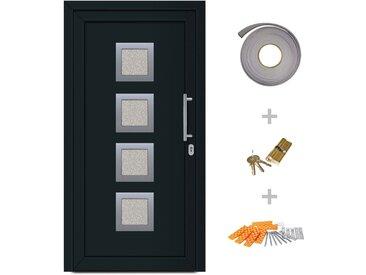 Porte d'entrée principale Anthracite 98x208 cm - vidaXL