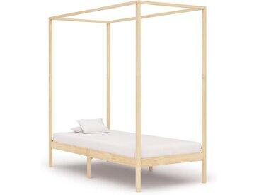 Cadre de lit à baldaquin Bois de pin massif 100 x 200 cm - vidaXL