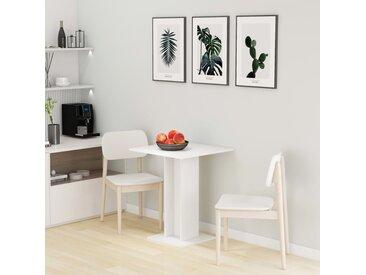 Table de bistro Blanc 60x60x75 cm Aggloméré   - vidaXL