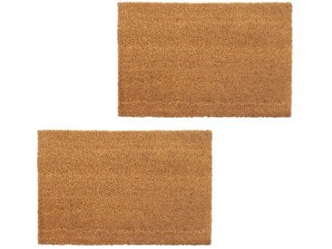 Paillasson 2 pcs Fibre de coco 24 mm 40 x 60 cm Naturel - vidaXL
