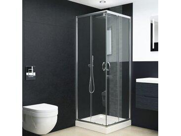 Cabine de douche Verre de sécurité 70x70x185 cm - vidaXL