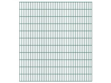 Panneaux de clôture de jardin 2D 2,008x2,23 m 8 m total Vert - vidaXL