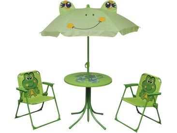 Jeu de bistro avec parasol pour enfants 3 pcs Vert - vidaXL