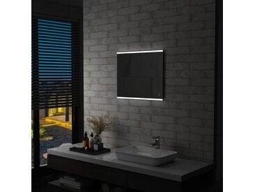 Miroir mural à LED de salle de bain et capteur tactile 60x50 cm - vidaXL