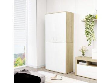 Armoire à chaussures Blanc chêne sonoma 80x39x178 cm Aggloméré - vidaXL