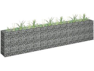 Jardinière à gabion Acier galvanisé 270x30x60 cm - vidaXL