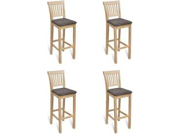 Chaises de bar 4 pcs Bois - vidaXL