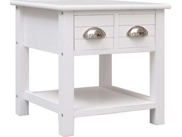 Table d'appoint Blanc 40x40x40 cm Bois de Paulownia - vidaXL