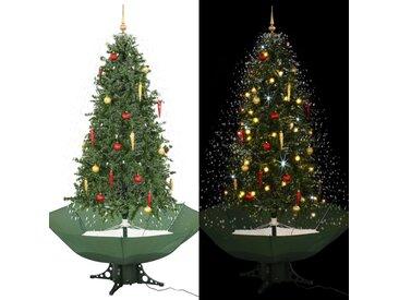 Arbre de Noël neigeux avec base de parapluie Vert 190 cm - vidaXL